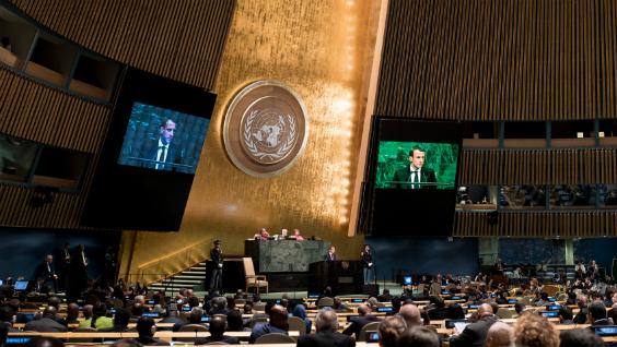 74th United Nations General Assembly Speech By M Emmanuel Macron Ambassade De France En Indonesie Au Timor Oriental Et Aupres De L Asean