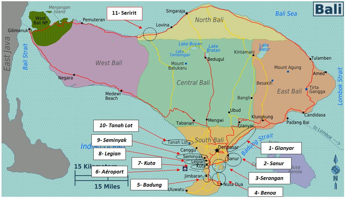 Carte Bali Serangan.Consignes De Securite Pour Bali Ambassade De France En Indonesie